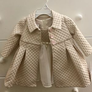 NWT Bonnie Baby formal Dress and coat set